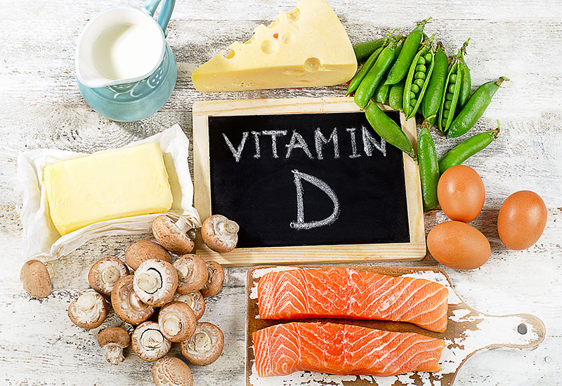 photo showing foods high in vitamin D | Georgia Dermatology Center