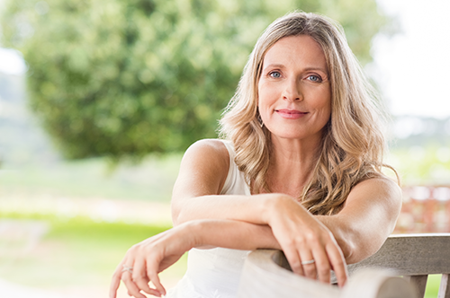 beautiful skin | photo of mature woman with healthy skin